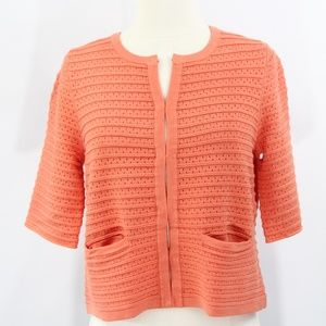 Chico's Cardigan Sweater Crop Top New Pointelle